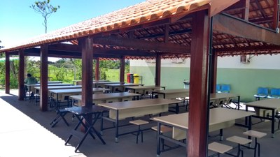 Reforma e Adaptação do Refeitório do Campus Avançado São João da Barra (2017). Origem da Receita: LOA (R$ 86.027,54).