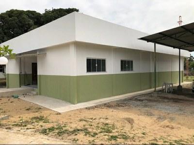 Construção de almoxarifado do Campus Quissamã (2018). Origem da Receita: LOA (R$39.804,37); Emenda Parlamentar: (R$ 352.743,16).