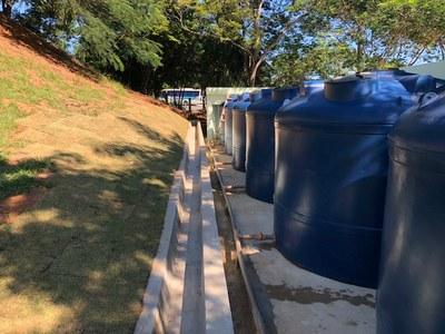 Cisternas para 120 mil litros do Campus Macaé (2018). Origem da Receita: Emenda Parlamentar (R$ 203.103,06).