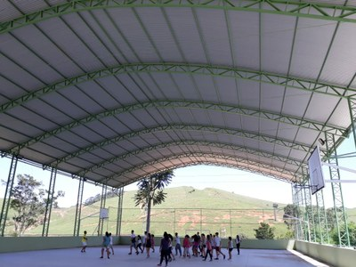 Quadra poliesportiva do Campus Avançado Cambuci (2018). Origem da Receita: Emenda Parlamentar (R$ 522.280,44).