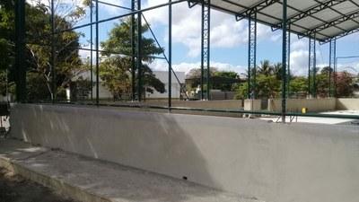 Construção da quadra poliesportiva coberta no Campus Quissamã.