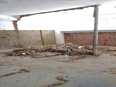Reforma do bloco de salas de aula da Unidade de Formação de Cordeiro.