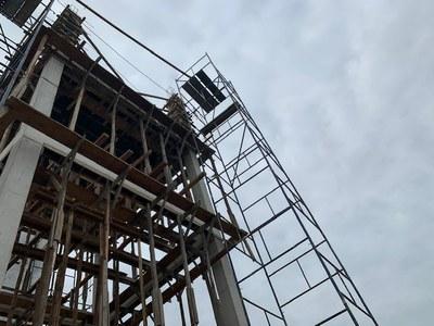 Construção do reservatório elevado de 20.000 litros no Campus Quissamã.