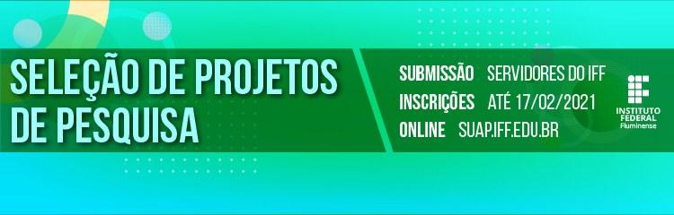 Aberta a seleção de projetos de pesquisa e de estudantes bolsistas