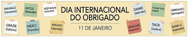 Dia Internacional do Obrigado - 11 de janeiro