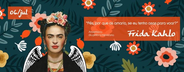 Aniversário da pintora mexicana Frida Kahlo (home)