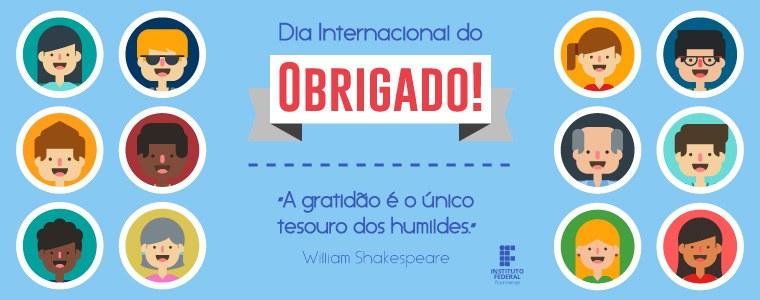 Banner Dia Internacional do Obrigado
