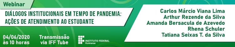 IFF realiza webinar sobre atendimento aos estudantes em tempo de pandemia 2