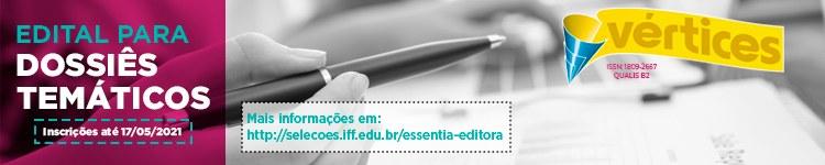 Propostas de dossiês temáticos para a Revista Vértices podem ser enviadas até o dia 17 de maio 2