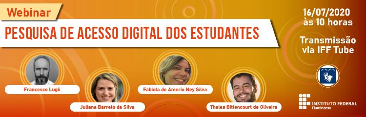 Ensino promove terceira webinar sobre acesso digital dos estudantes