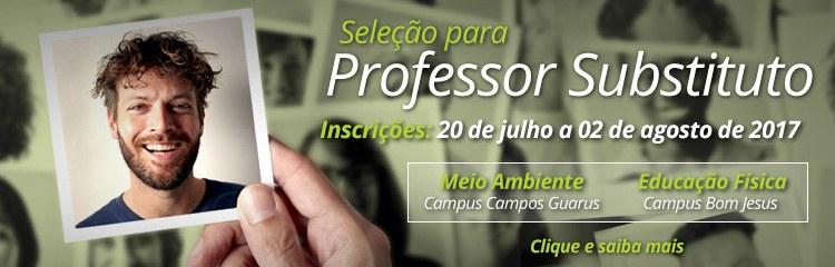 IFF abre inscrições para Professor Substituto