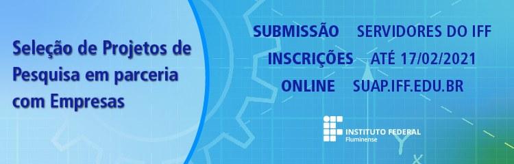 IFF abre inscrições para projetos de pesquisa em parceria com empresas
