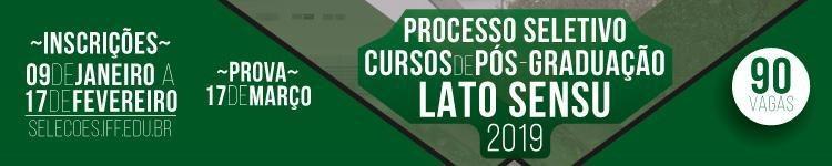IFF está com inscrições abertas para Cursos de Pós-graduação Lato Sensu