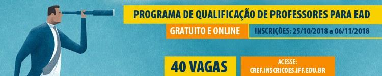 IFF lança Programa de Qualificação de Professores para Ensino a Distância