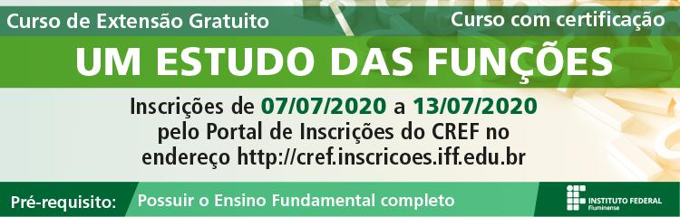 IFF oferta Curso de Extensão online sobre Estudo de Funções Matemáticas