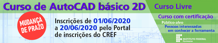 IFF oferta Curso gratuito em AutoCAD 2