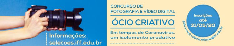Inscrições para Concurso de Fotografia e Vídeo Digital do IFF podem ser feitas até 31 de maio 2