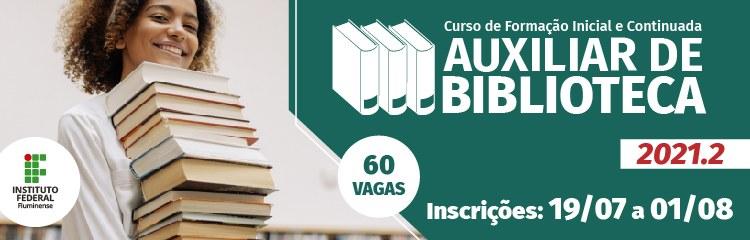Inscrições para curso FIC em Auxiliar de Biblioteca começam dia 19 1