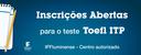 Novas datas de aplicação do Toefl ITP no IFFluminense