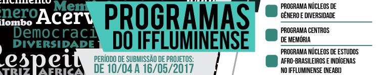 Reitoria abre inscrições de projetos para os Programas do IFFluminense