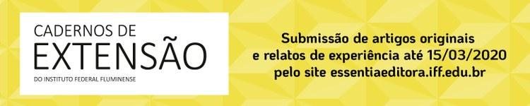 Revista Cadernos de Extensão do IFF prorroga prazo para submissão de trabalhos 2