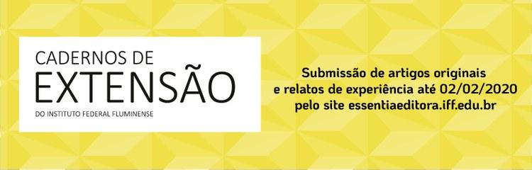 Revista Cadernos de Extensão do IFFluminense está aberta à submissão de trabalhos