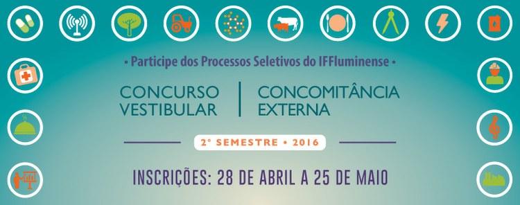 Seleções para cursos técnicos e superiores no IFFluminense