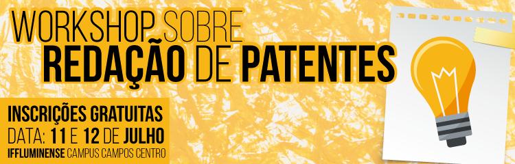 Workshop sobre patentes será realizado no IFF