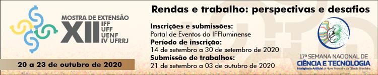XII Mostra de Extensão IFF-UFF-Uenf e IV UFRRJ será realizada de 20 a 23 de outubro - 2