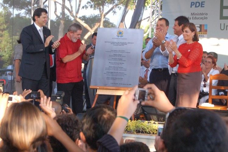 Cabo Frio - presidente Lula participa da inauguração do campus