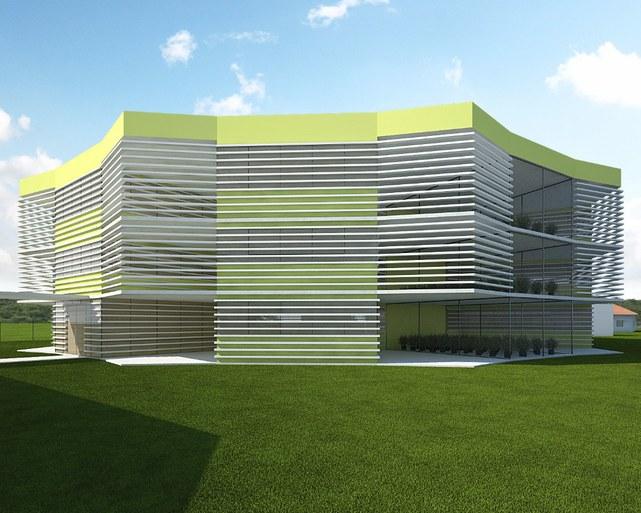 Polo de Inovação - projeto da fachada