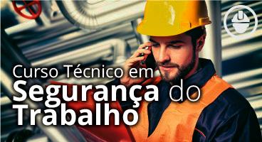 Capa do Curso Técnico em Segurança do Trabalho