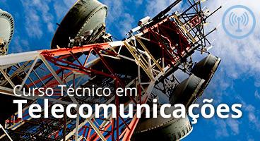 Capa do Curso Técnico em Telecomunicações
