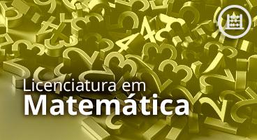 Capa da Licenciatura em Matemática