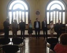 Representantes das Instituições durante a assinatura do convênio.
