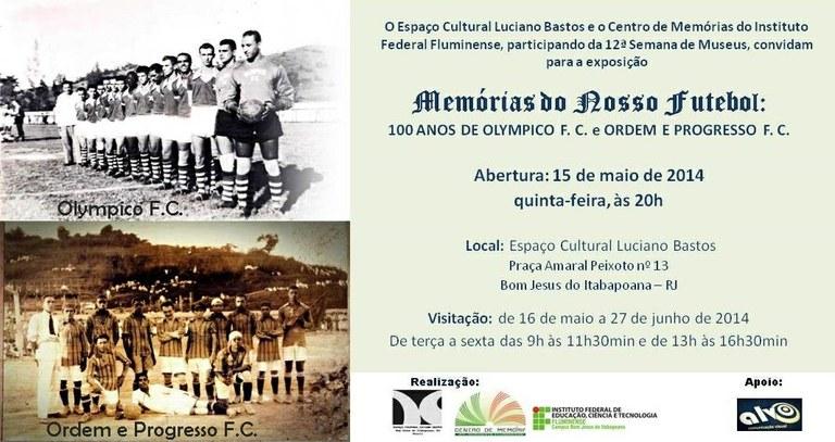 Convite da exposição Memórias do Futebol