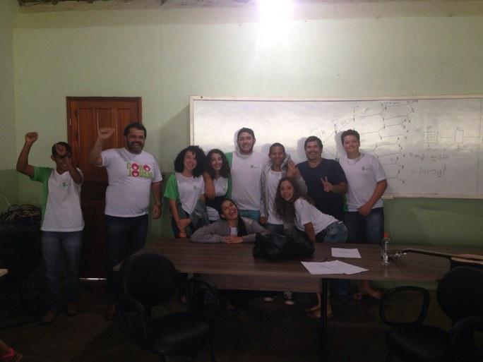 Seleção do Coro Jovem no campus Cambuci