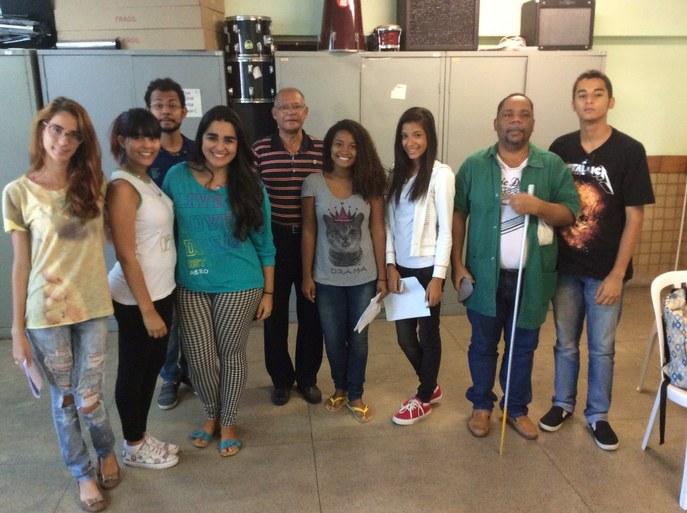 Ensaio do Coro Jovem no campus Centro com alunos também do campus Guarus