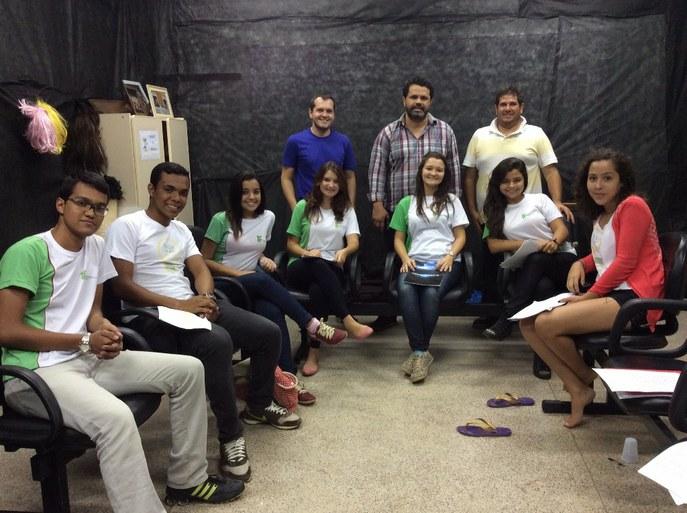 Ensaio do Coro Jovem no campus Itaperuna com alunos também do campus Cambuci