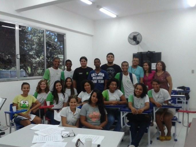 Ensaio do Coro Jovem no campus Quissamã com alunos também dos campi Macaé e Cabo Frio