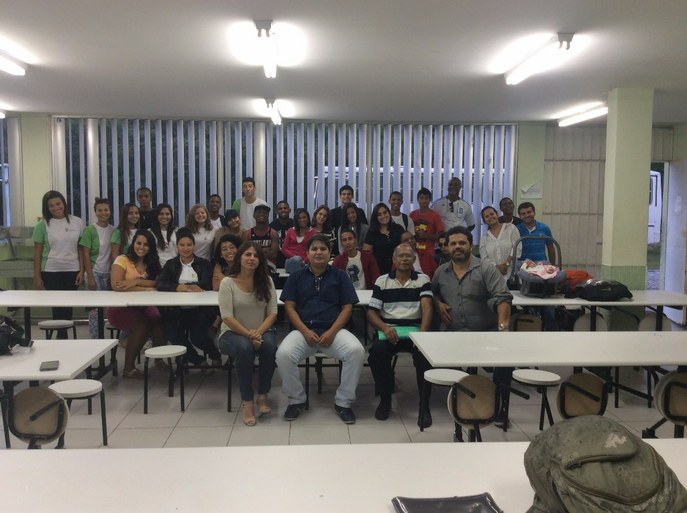 Ensaio Geral do coro jovem do IFF realizado em Cabo Frio no dia 27/4