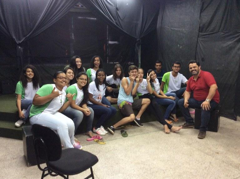 Seleção do Coro Jovem no campus Itaperuna