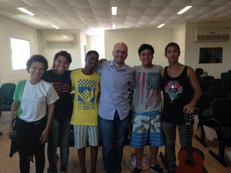Seleção do Coro Jovem no campus Quissamã