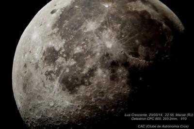 (Lua Crescente, 20/03/2014, 22:56, Macaé (RJ)
