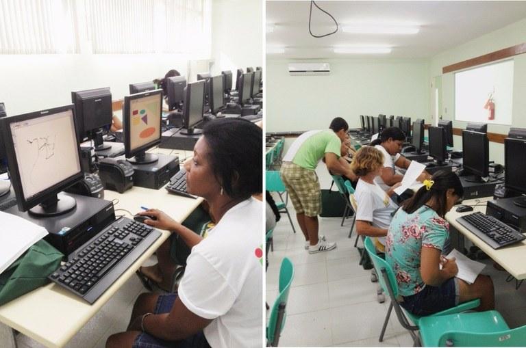 Foto 8 – Aula de informática no campus Cabo Frio (2012).
