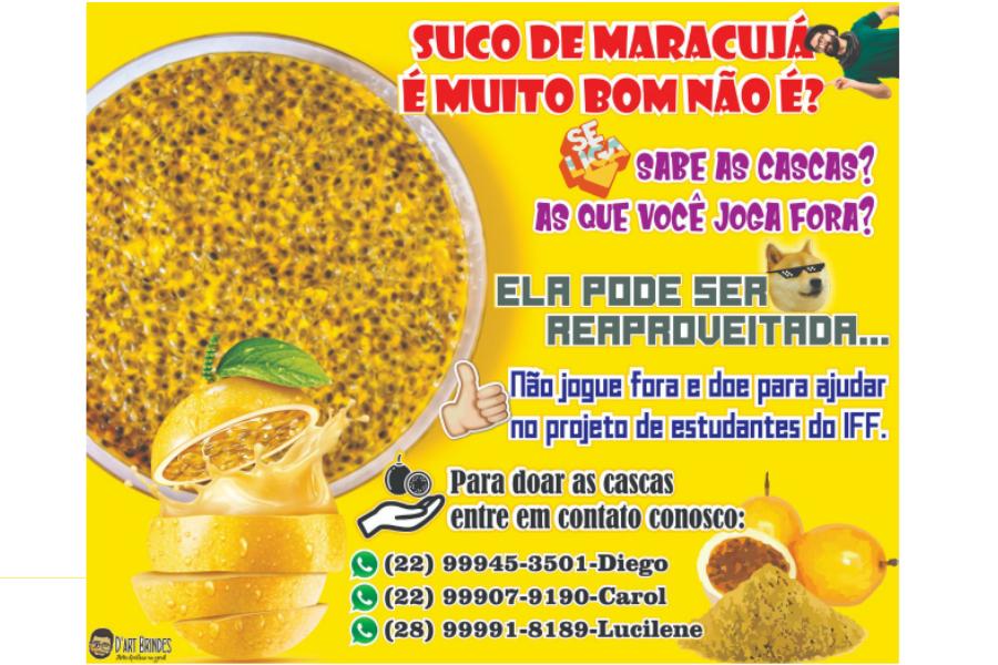 Doação de Cascas de Maracujá