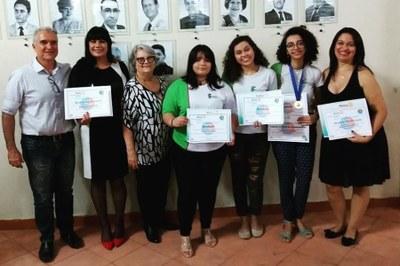 Premiação - melhor aluna de 2018 e melhor redação Rotary Clube