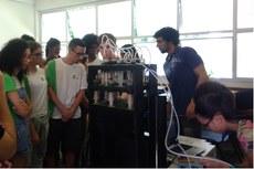 Servidores do Campus Bom Jesus acompanharam os alunos e participaram das atividades.
