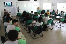 Mais de dez turmas participaram das palestras.