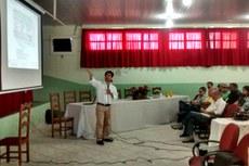 Omar Torres apresentou dados de pesquisa desenvolvida na região Noroeste Fluminense.